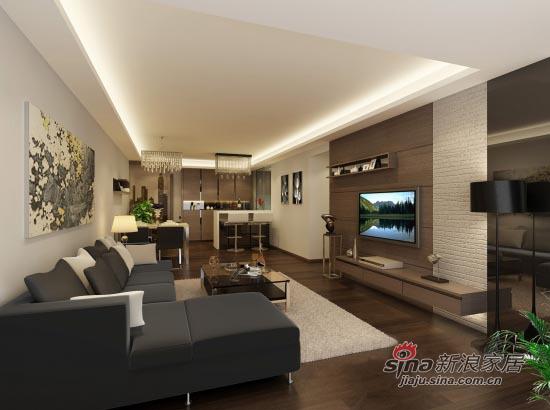 简约 二居 客厅图片来自用户2737759857在109平米简约舒适2居室14的分享