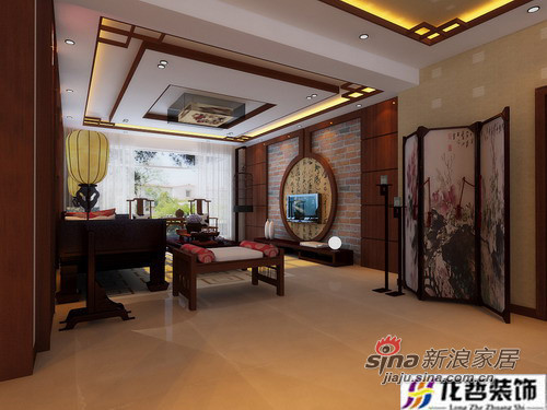 中式 二居 客厅图片来自用户1907658205在8万打造100平中式简约两居77的分享