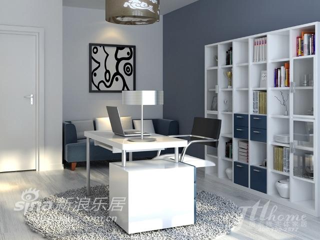 简约 三居 书房图片来自用户2737759857在雅致风尚的典型的现代简约风格87的分享