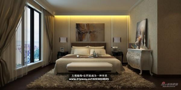 简约风格家庭装修设计-卧室装修效果图