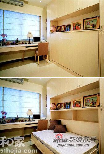 简约 二居 书房图片来自用户2739081033在柔美线条打造66平简约温馨小户型44的分享