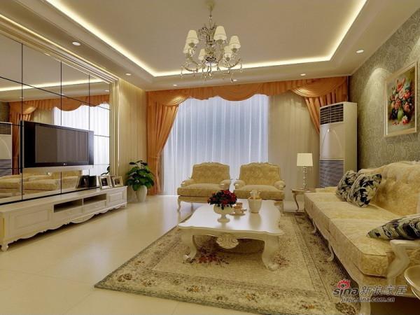简欧风格三居客厅设计