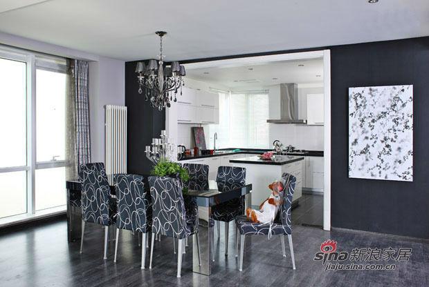 其他 三居 餐厅图片来自用户2557963305在20万打造硬朗黑白搭配甜美风三居室25的分享