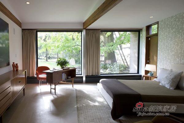 简约 别墅 卧室图片来自用户2738813661在纽约州的20世纪中叶风格豪宅27的分享