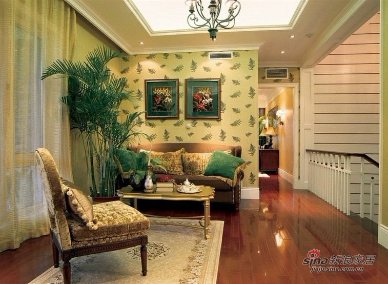 美式 复式 客厅图片来自用户1907685403在13.5万打造186平豪华3居22的分享