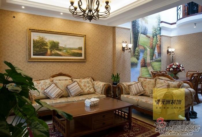 美式 别墅 客厅图片来自用户1907685403在顺义联排别墅91的分享