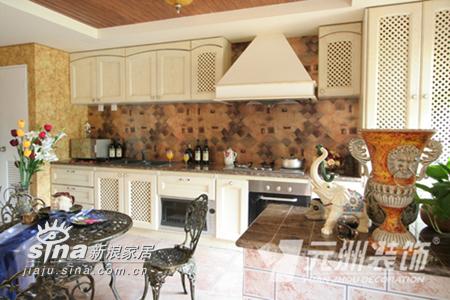 欧式 别墅 厨房图片来自用户2746948411在原生墅94的分享