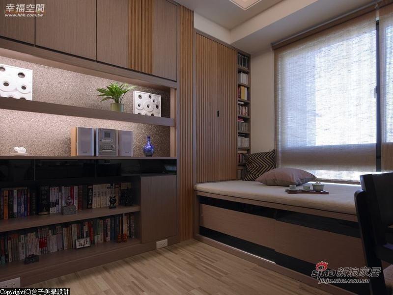 中式 二居 书房图片来自幸福空间在【高清】108.9平刻画现代中式禅意居69的分享