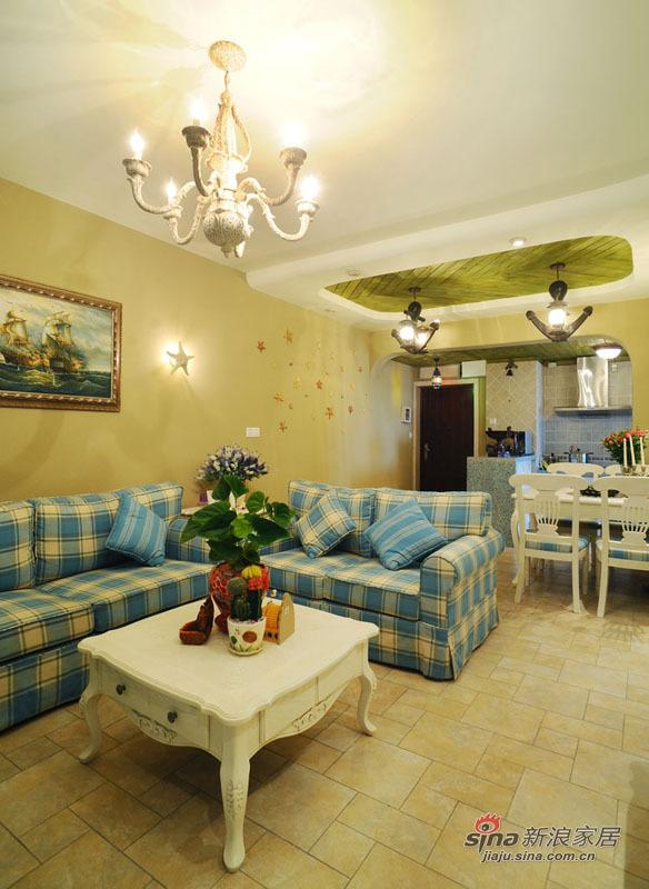 地中海 复式 客厅图片来自佰辰生活装饰在99平唯美地中海清凉浪漫家44的分享