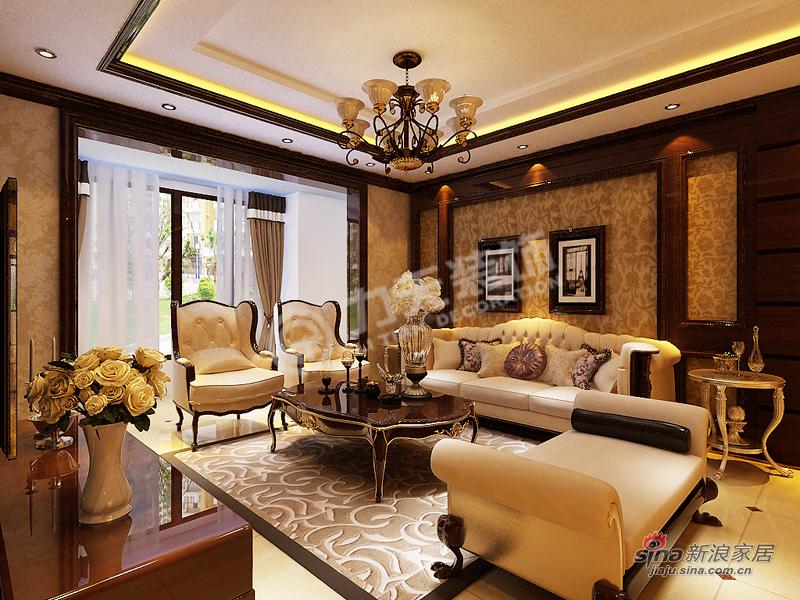 欧式 三居 客厅图片来自阳光力天装饰在金融街中心-三室三厅三卫-简欧风格34的分享