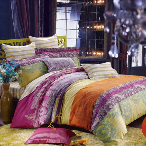 绚丽 四件套 床 卧室图片来自用户2772840321在22款舒适卧室装修 宅家族的窝心体验的分享