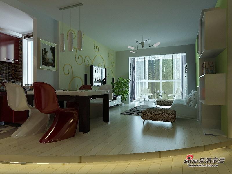 简约 二居 客厅图片来自用户2745807237在80后小夫妻的清新简约二居爱窝79的分享
