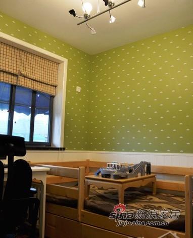 中式 三居 卧室图片来自用户1907696363在10万造就100平中式田园混搭3口之家36的分享