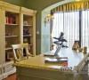 整个书房以平实的线条作为整体的装饰元素