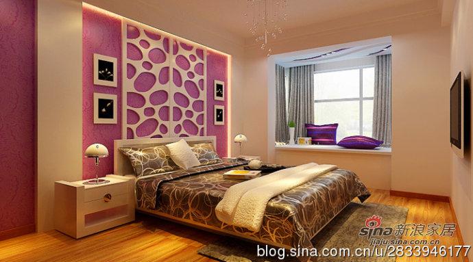 简约 三居 卧室图片来自用户2739153147在温馨浪漫的简约三居室平—天津实创装饰86的分享