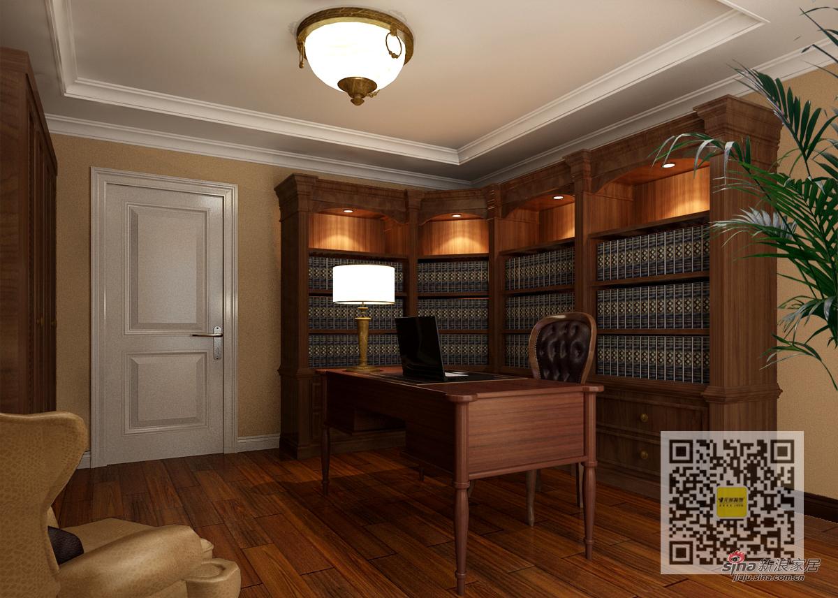 美式 三居 书房图片来自用户1907686233在美式风格装修设计案例12的分享