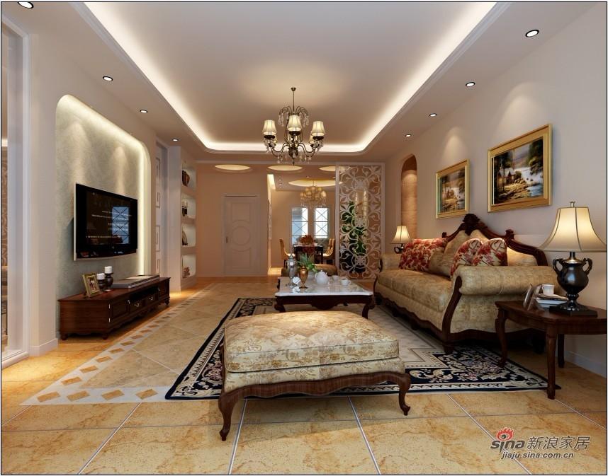 欧式 三居 客厅图片来自用户2772856065在150平新古典风格精简之美17的分享
