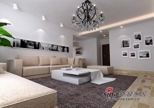 简约 一居 客厅图片来自用户2558728947在55㎡极致简约一居室设计53的分享