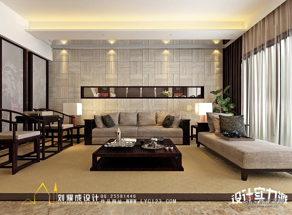 中式 复式 客厅图片来自用户1907658205在【高清】新中式的贵族复兴300平复式楼30的分享