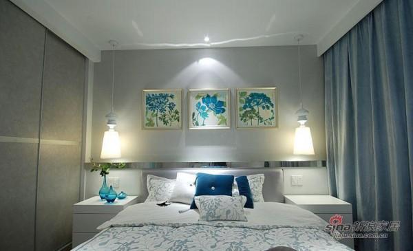 独特的卧室背景墙