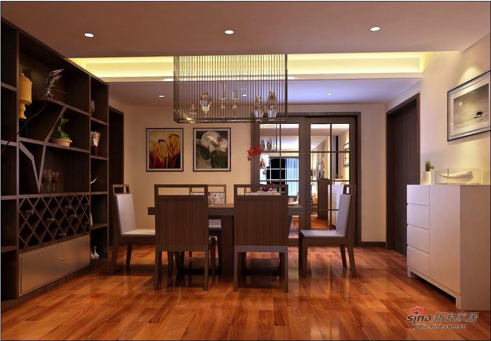 现代 三居 餐厅图片来自用户2771250253在8万打造现代风格126平米高档家居22的分享
