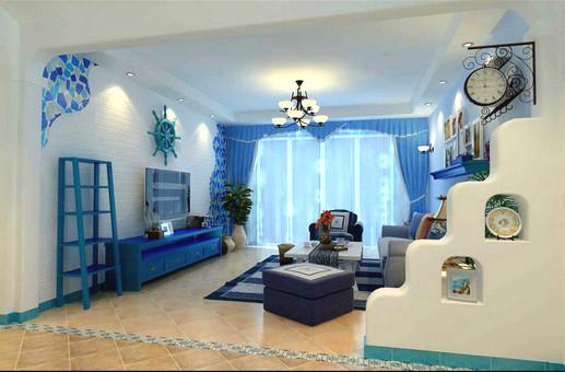 地中海 二居 客厅图片来自用户2756243717在5.8万巧装地中海风格二居室85的分享