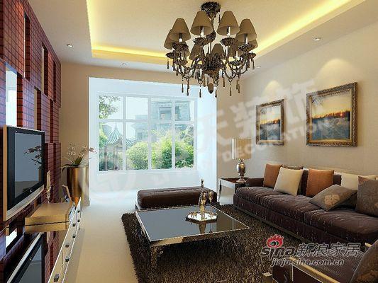 欧式 二居 客厅图片来自阳光力天装饰在95平现代简欧式温馨两居97的分享