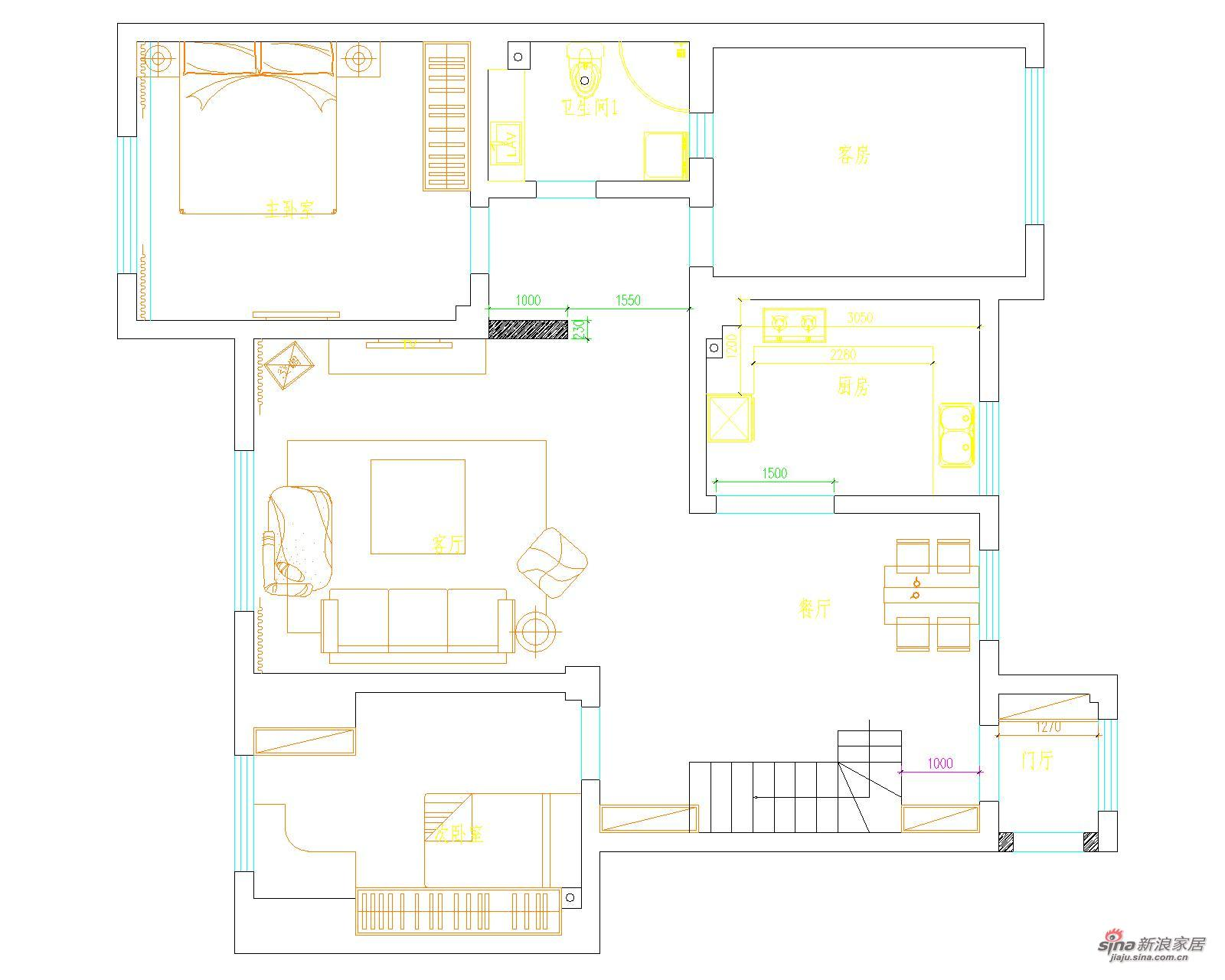 简约 跃层 客厅图片来自用户2738829145在12万装142平开放简约阁楼36的分享