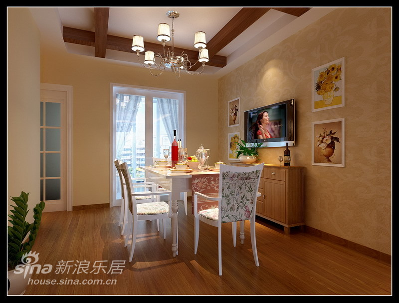 欧式 三居 餐厅图片来自用户2557013183在简约新古典36的分享