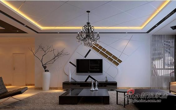 明珠公寓电视背景墙装修效果图【实创装饰】
