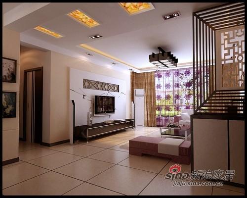 中式 三居 客厅图片来自用户1907658205在145平中式现代的完美集合,花7.8万24的分享