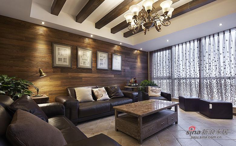 简约 复式 客厅图片来自装修微日记在【高清】夫妻190平复古情调复式空间48的分享