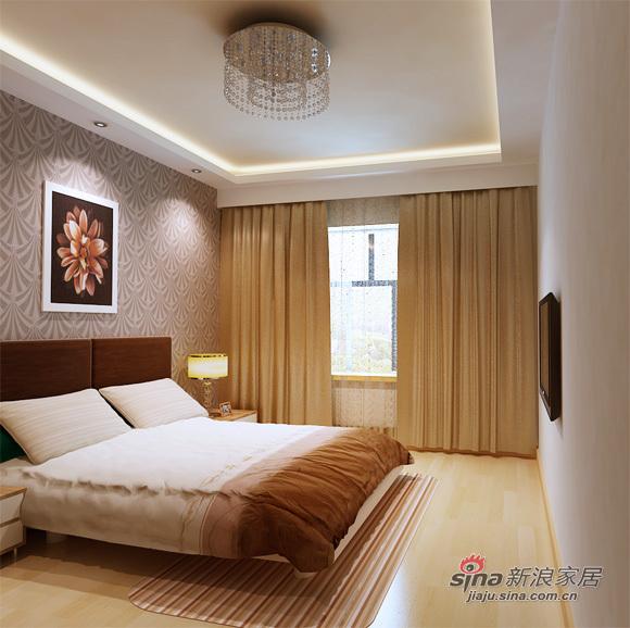 简约 二居 卧室图片来自用户2745807237在5万精装80平米两居大方简约87的分享