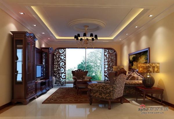 高贵大气欧式客厅设计