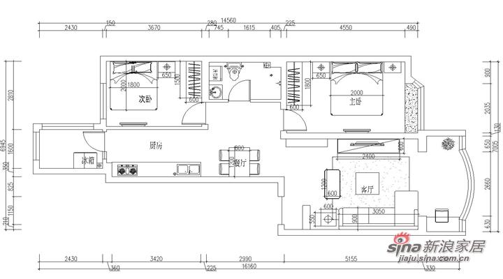 简约 二居 其他图片来自用户2738813661在5.8万打造明光翡翠湾112平现代简约两居室55的分享