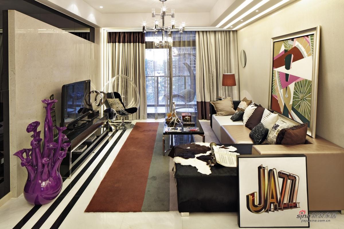 简约 三居 客厅图片来自用户2739153147在【高清】115平米三居室设计最有范儿68的分享