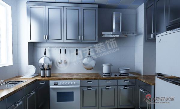 简约 三居 厨房图片来自阳光力天装饰在万通新城-3室2厅2卫1厨-现代简约43的分享