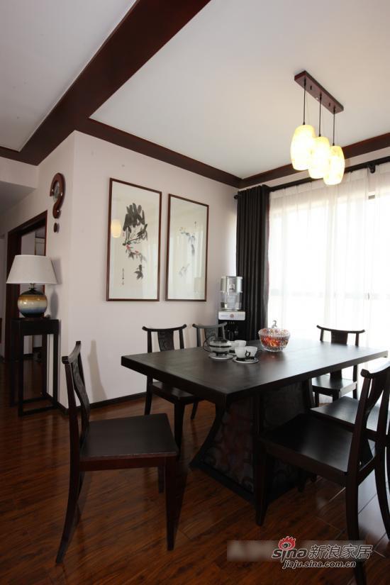 中式 一居 餐厅图片来自用户1907661335在现代中式风格 沉淀下来的韵味12的分享