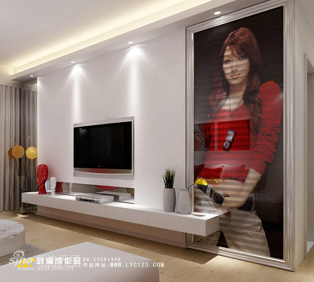 简约 二居 客厅图片来自用户2738813661在生活需要一点红93的分享