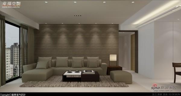 墙面以立体的纹路打造空间的手感温度