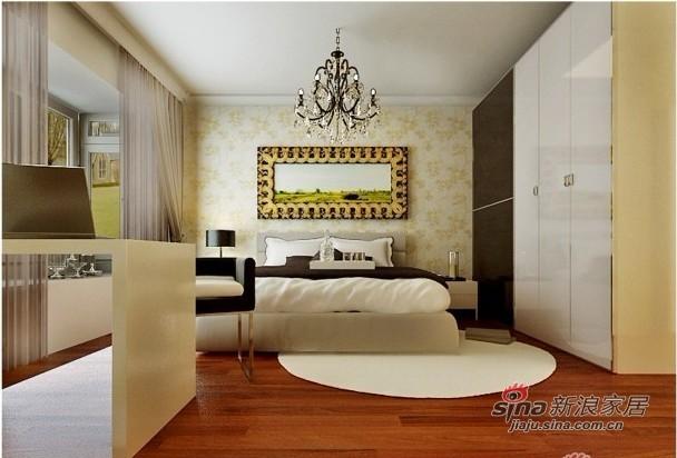 简约 三居 卧室图片来自用户2738093703在7万打造107平黑白灰色调为主的时尚三居65的分享