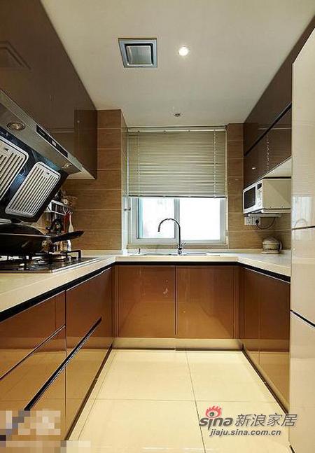 现代 三居 厨房图片来自佰辰生活装饰在9万打造110平质感元素三居室36的分享