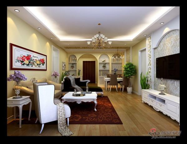 润枫锦尚欧式田园客厅设计