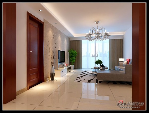 120平丽岛美生装修设计三居室