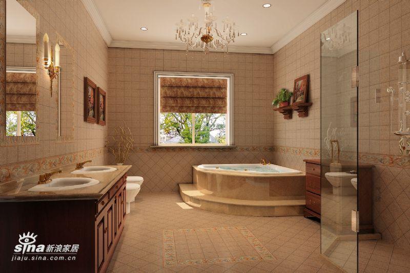 欧式 别墅 卫生间图片来自用户2772873991在三大元素打造欧式古堡44的分享