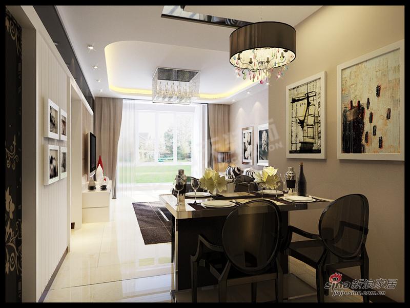 简约 二居 餐厅图片来自阳光力天装饰在金隅悦城-两室两厅一厨一卫-现代简约62的分享