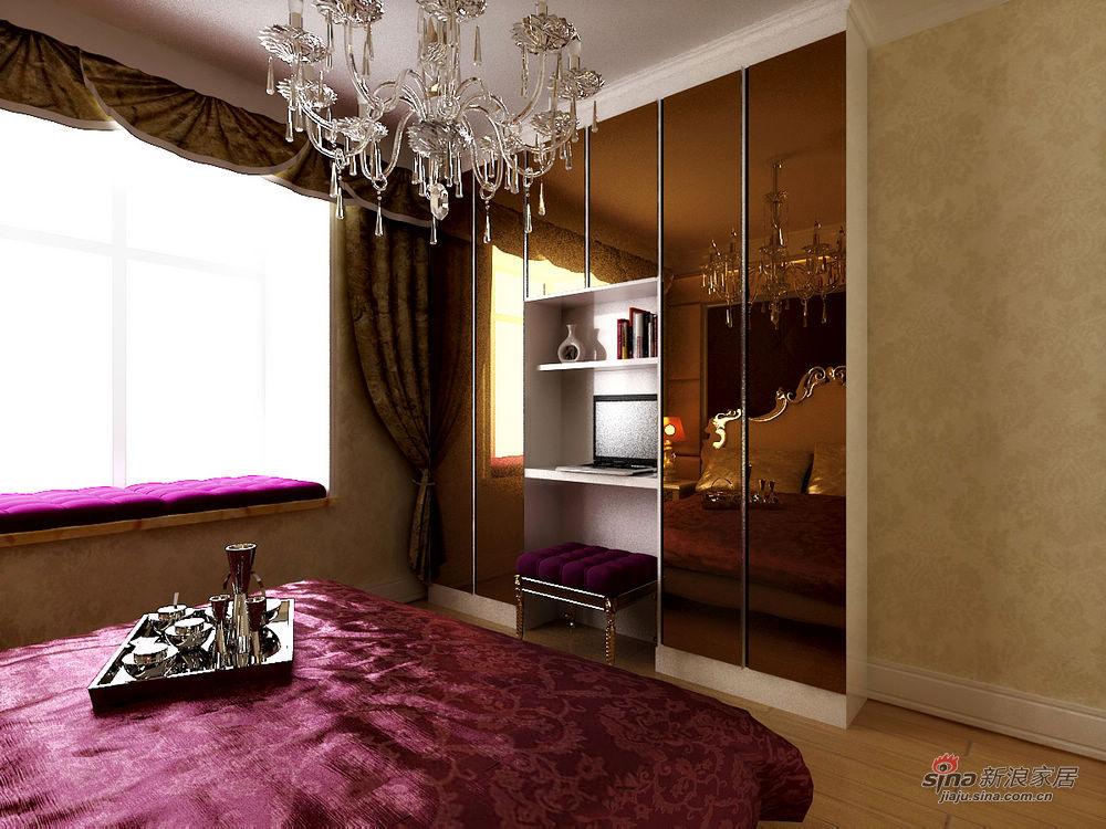 欧式 四居 卧室图片来自用户2557013183在现代欧式豪华舒适大居室设计19的分享