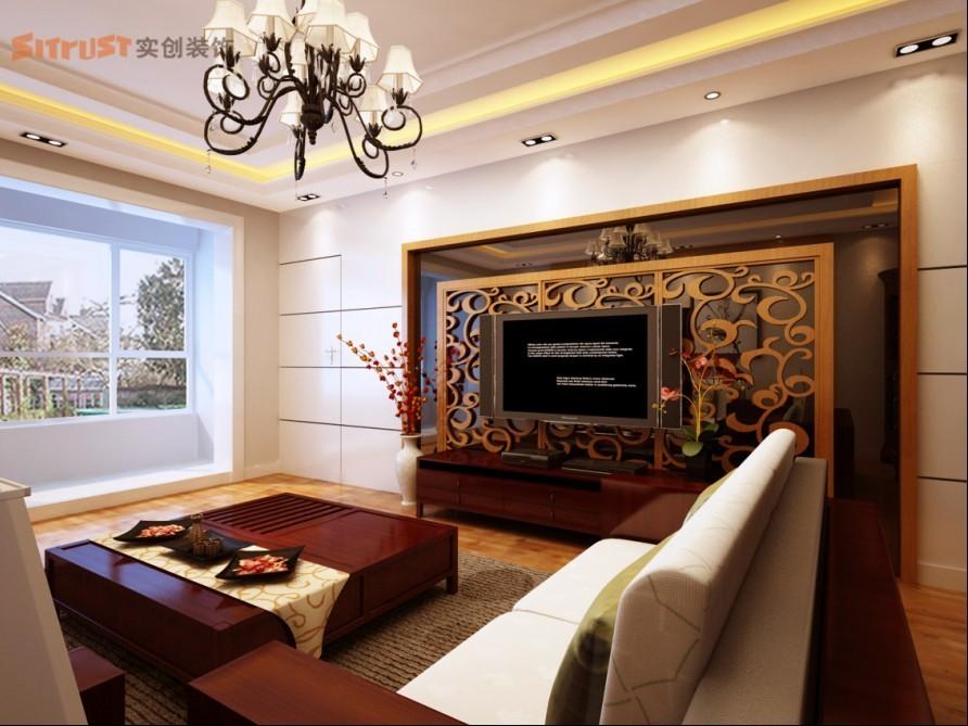 中式 三居 客厅图片来自用户1907659705在100平米3居室中式混搭装修25的分享
