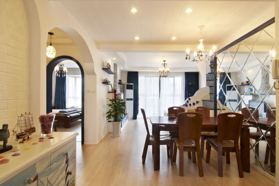 地中海 loft 餐厅图片来自用户2756243717在12万完美铸造浪漫地中海情调loft58的分享