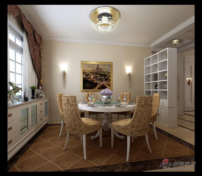 欧式 三居 餐厅图片来自用户2772856065在140平简单大方简欧风格21的分享